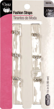 Clear Straps With Rinestones
