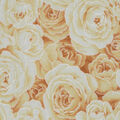 Premium Cotton Fabric-Yellow & Pearl Packed Roses