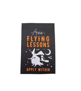 Maker's Halloween Flag-Free Flying Lessons Apply Within & Witch
