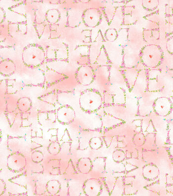 Valentine's Day Fabric 44''-Floral Love