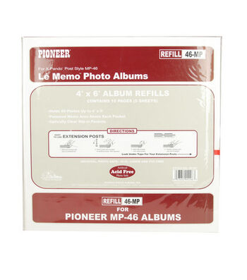 Pioneer Refill Pages 200Pkt 6-Up Album