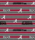 University of Alabama Crimson Tide Fleece Fabric -Polo Stripe