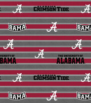 "University of Alabama Crimson Tide Fleece Fabric 58""-Polo Stripe, , hi-res"
