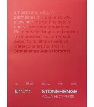Legion Paper Stonehenge Aqua Hotpress 15-sheet 10''x14'' 140 lb Pad