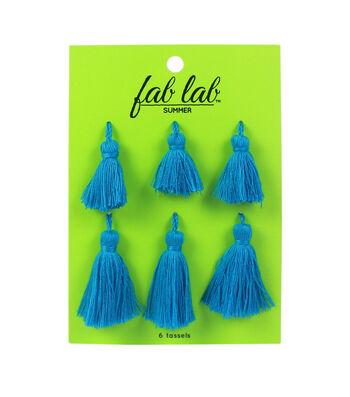 Fab Lab Tassels 6/Pkg-Blue