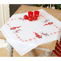 Christmas Elves Tablecloth Stamped Cross Stitch Kit