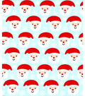Holiday Showcase Christmas Cotton Fabric 43\u0027\u0027-Ditsy Santa & Snowflakes on Blue