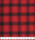 Plaiditudes Brushed Cotton Fabric -Black Red