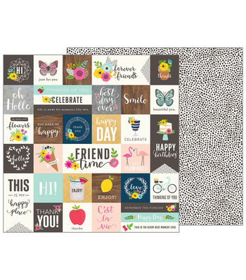 Pebbles Jen Hadfield Patio Party Double-Sided Cardstock-From Me to You