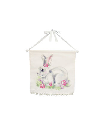 Easter Decor 16.25'' Canvas Wall Banner-Bunny