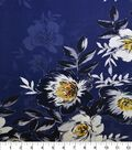 Gianna 100% Silk Rayon Print Fabric 42\u0022-Blossom Floral Mazar