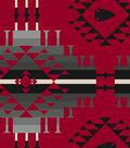 Anti-Pill Fleece Fabric -Moondance Red Gray