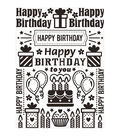 Bday Collg-embossing Folder