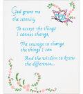 Stamped White Sampler 11\u0022X14\u0022-Serenity Prayer
