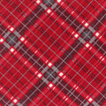 Super Fleece Fabric -Red & Gray Plaid