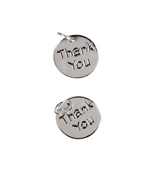 Blue Moon Beads Charms Round Thank You tag charms