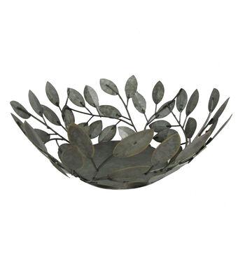 Blooming Autumn Large Metal Leaf Bowl