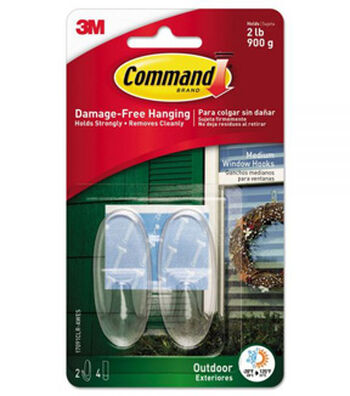 Command Outdoor Clear Window Hooks