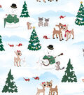 Holiday Cotton Fabric -Rudolph