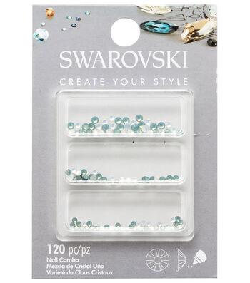 Swarovski Create Your Style 120 pk Nail Crystals-Opal Combo