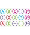 Multicolor Scallop Circle Letters