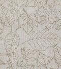 Harvest Cotton Fabric 44\u0022-Cream Leaf Outlines