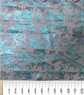Glitterbug Brocade Fabric -Light Blue