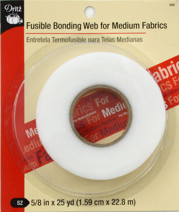 "Dritz Fusible Bonding Web Medium White 5/8""X25Yds"