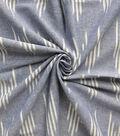 Linen Blend Fabric 53\u0022-Navy Ikat