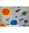 Nursery Fleece Fabric -Outerspace All Over Print