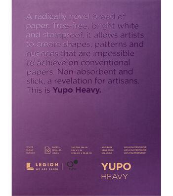 Legion Paper Yupo 10-sheet 9''x12'' 144 lb Heavy Pad-White