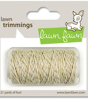 Lawn Fawn Lawn Trimmings Sparkle Hemp Cord 21yd, , hi-res