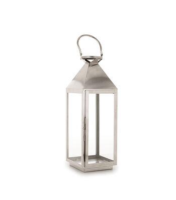 Hudson 43 Candle & Light Collection 7X20 Lantern Metal-Nickel