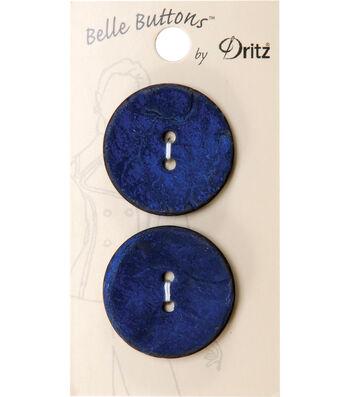 Dritz 30mm Belle Button Natural Coconut Blue Dyed