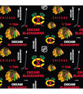 Chicago Blackhawks Cotton Fabric 43\u0027\u0027-Mascot Logo
