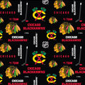 Chicago Blackhawks Cotton Fabric -Mascot Logo