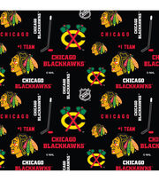 Chicago Blackhawks Cotton Fabric 43''-Mascot Logo, , hi-res