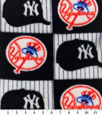 New York Yankees Fleece Fabric -Block