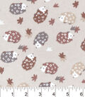 Snuggle Flannel Fabric -Multi Brown Hedgehogs