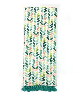 Hello Spring 16''x28'' French Terry Towel-Watercolor Herringbone
