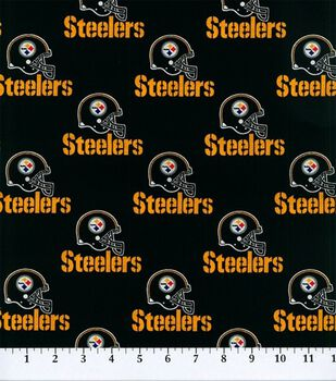 Pittsburgh Steelers Cotton Fabric -Black