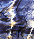 Printed Knit Rayon Spandex Fabric -Indigo Tie Dye