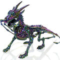 Maker\u0027s Halloween Mystical Skeleton Dragon with Tail-Oil Slick