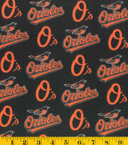 Baltimore Orioles Cotton Fabric 58''-Logo, , hi-res