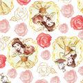 Disney Beauty & The Beast Cotton Fabric -Belle Framed