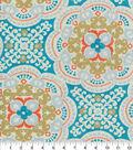 Waverly Outdoor Print Fabric 54\u0027\u0027-Aqua Astroid