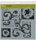 The Crafter\u0027s Workshop Rebekah Meier 12\u0027\u0027x12\u0027\u0027 Stencil-Flower Scroll