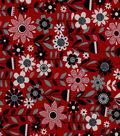 Quilter\u0027s Showcase Cotton Fabric 44\u0022-Linear Floral