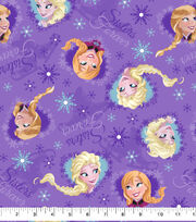 Disney Cotton Fabric-Frozen Sisters Ice Skating, , hi-res