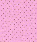 Keepsake Calico Cotton Fabric 43\u0022-Pink Dot Metallic